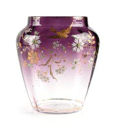 Pottery Painting Designs, Paint Designs, Ludwig, Antique Glass, Ceramic Pottery, Glass Art, Amethyst, Enamel, Ceramics