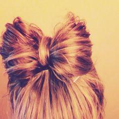 Bow hair due(: cutest thing ever!