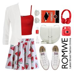 """Watermelon Skirt"" by scarlett-morwenna ❤ liked on Polyvore"