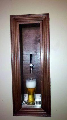 Diy built in wall beer dispenser beer taps, basement remodeling, man cave kegerator, Man Cave Diy, Man Cave Home Bar, Man Cave Basement, Man Cave Garage, Popcorn Bar, Ultimate Man Cave, Beer Taps, Lounges, Basement Remodeling