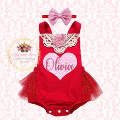 baby girl valentines outfit red romper valentines day red romper valentines baby outfit