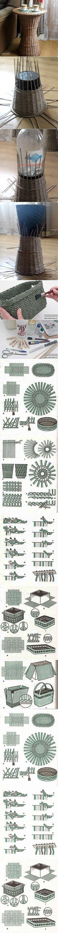 Поиск на Постиле: плетение из газетных трубочек