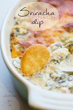 Sriracha Spinach Dip is a unique and flavorful addition to any game-day table!