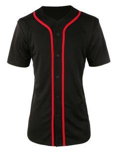 LE3NO Womens Oversized Short Sleeve Button Up Baseball Jersey Shirt