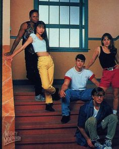 Chilling in the halls of Angel Grove High. Power Rangers Fan Art, Power Rangers Series, Best Outdoor Toys, Amy Jo Johnson, Show Power, Pawer Rangers, Sf Movies, Forever Red, Entertainment