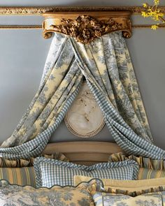 Legacy By Friendly Hearts Two x Lutece Cypress Toile Curtains Two x Lutece Cypress Toile Curtains Each x Lutece Cypress Toile/Check Curtain Toile Curtains, Toile Bedding, Bed Curtains, Bedding Sets, Chic Bedding, Luxury Bedding, Curtains For Arched Windows, Shabby Chic Bedrooms, Shabby Chic Homes
