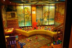 Fun Ideas for Kids Basement Playroom. Damn, we don't have basements here - maybe a bonus room over the garage would work?