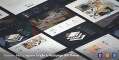 Download and review of Kwoon - Multipurpose WordPress Theme, one of the best Themeforest Corporative themes