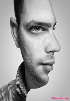 double exposure portraits in Photoshop Illusion Kunst, Illusion Art, Illusion Photos, Photomontage, Amazing Optical Illusions, Optical Illusions Drawings, Op Art, Double Exposure, Photo Manipulation