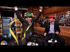 Jimmy Fallon and Jimmie Johnson Cooler Scooter Race