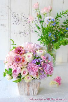 生花レッスン ポストカードにするために…写真に撮るためにお花をいける   FlowerStudioFLORAFLORA*TOKYO ウェディングブーケ会場装花&フラワースクール*東京