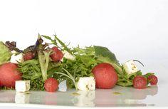 Watermelon Salad with Feta Cheese, Rosemary and Balsamic Vinaigrette