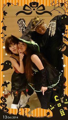 10-13-14 Yokohama Sports Center. Halloween Scary Zumba® Action with Zumbees Chinami Eguchi, Michiko Yamada and 楡木政則.