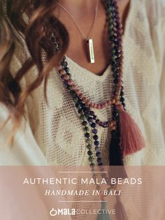 Deepen your meditation practice and wear your intention with handmade, blessed and fair-trade Mala Beads from Bali.