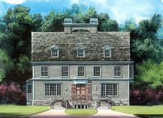 House Plan 72064 | Colonial   Greek Revival    Plan with 3093 Sq. Ft., 4 Bedrooms, 4 Bathrooms, 3 Car Garage