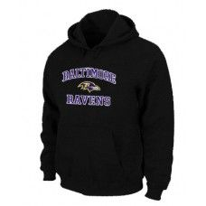 Wholesale Men Baltimore Ravens Black Heart And Soul Pullover Hoodie_Baltimore Ravens Pullover Hoodie