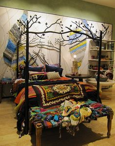 I keep seeing this bed from Anthropologie, but it's way out of my price range. I keep wondering how I can copycat it.
