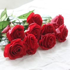 10 pcs Latex Real Touch Rose Decor Rose Artificial Flowers Silk Flowers Floral Wedding Bouquet Home Party Design Flowers