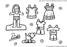 Coloring Dress Pages Clothes Kids Printables Colori With Clothing Page Images Childr