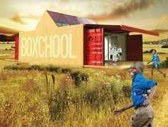 Boxchool – Modular Container School for Isolated Areas Container Buildings, Container Architecture, School Building, Classroom Environment, Eco Friendly House, Rural Area, Design Thinking, School Design, Custom Homes