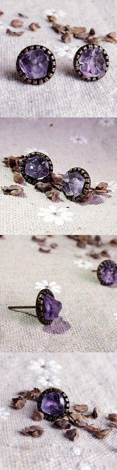 Delicate crystal choker Lavender collar choker Bib flower necklace Raw amethyst necklace 16