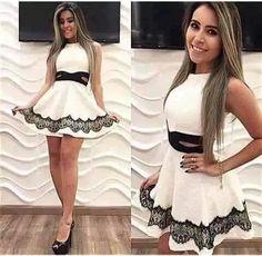 vestido rodado cintura marcada curto princesa feminino