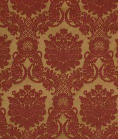 Robert Allen Elegance Way Pomegranate Fabric - $477 | onlinefabricstore.net
