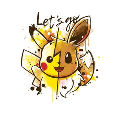 Let's Go Pikachu & Eevee, Pokemon Pikachu Pikachu, Pikachu Mignon, O Pokemon, Pokemon Fan Art, Pokemon Merchandise, Eevee Wallpaper, Cute Pokemon Wallpaper, Pokemon Tattoo, Pikachu Drawing