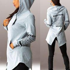 best service 9ba70 e0d79 Online Shop Womens Long Sleeve Graffiti Hoodie Sweatshirt Casual Hoodie  Coat Pullover Jacket
