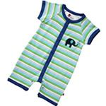 Piccalilly Organic Cotton Elephant Stripe Playsuit