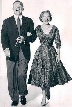 George Burns and Gracie Allen ✾ 1955.