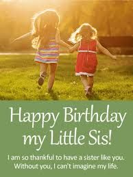 Image Result For Younger Sister Bday Illustration Happy Birthday Little Greetings