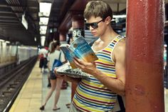 underground new york public library. a visual library featuring the reading-riders of the NYC subways.