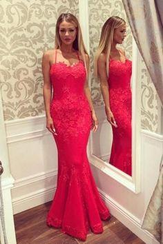 Sexy Mermaid Prom Dress Cross Back Straps Prom Dresses pst1325