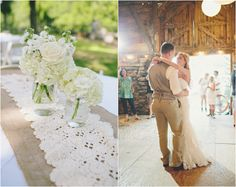 Lace Burlap Wedding