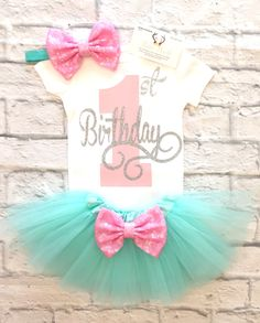 Baby Girl 1st Birthday First Outfits Babys Parties Shirts Tutu Ideas Tutus