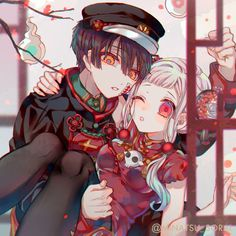 Hanako e Yashiro Manga Couple, Anime Love Couple, Cute Anime Couples, Otaku Anime, Manga Anime, Fille Anime Cool, Gintama, Aldnoah Zero, Anime Kawaii