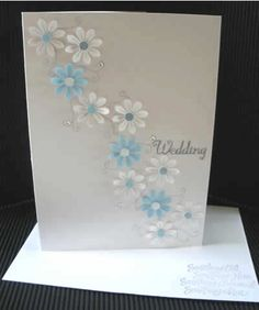 HandCrafted Creations Blog: LIZ FELGATE CRAFTS - Beautiful handcrafted Cards for wedding or shower. Use wedding colors.