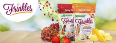 Introducing FRINKLES - 100% Fruit Sprinkles. A crunchy burst of REAL fruit flavors.  Use in place of traditional sprinkles which are full of artificial ingredients.  Make any food fun by topping it with Frinkles!