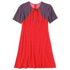 Scattered Spot Contrast Print Dress   Dresses   CathKidston
