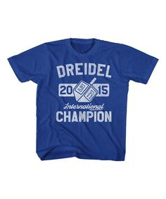 Loving this Royal Blue 'Dreidel Champion' Tee - Toddler & Boys on #zulily! #zulilyfinds