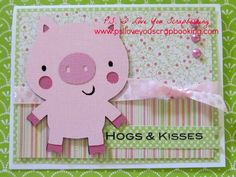 Pig Cricut Card Using the Create A Critter Cricut Cartridge - Hog & Kisses by My Pink Stamper Card Making Tutorials, Card Making Techniques, Making Ideas, Create A Critter, Ps I Love You, Cricut Cartridges, Cricut Cards, Valentine Day Cards, Valentines