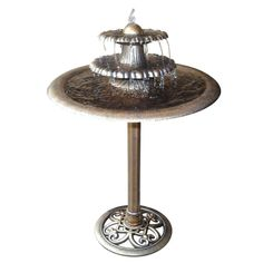 36-in H Plastic Tiered Fountain Outdoor Fountain Alpine Corporation 36-in H Plastic Tiered Fountain Outdoor Fountain   TEC106-BZ