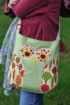 Lola The Owl Pillow PDF Pattern and bonus Lola Owl Bag Pattern / Gingercake Sewing Hacks, Sewing Tutorials, Sewing Patterns, Owl Patterns, Sewing Ideas, Fabric Crafts, Sewing Crafts, Sewing Projects, Owl Sewing
