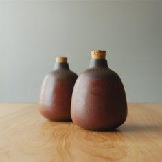 Vintage Heath Ceramics Salt & Pepper Shakers in Redwood