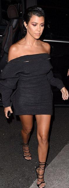 Kourtney Kardashian': Dress – Zaid Affas  Shoes – DSquared2