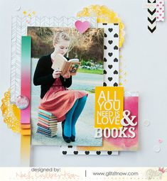 This cute layout by Noel Culbertson used products from the Wild & Free collection by Glitz Design.