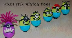 Wikki Stix Minion Egg Crafts and Learning Games for Kids! - Wikki Stix Educational Toys » Wikki Stix Educational Toys