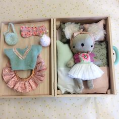 play soft toy stuffed animal doll  with cute clothes