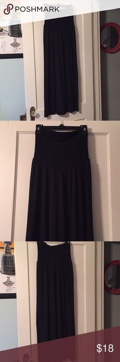Motherhood Maternity maxi black skirt A very nice maxi black maternity skirt up for sale. Brand: Motherhood Maternity. Material is very soft, and the top is stretchy to cover your baby bump! In very nice used condition (some minor pilling, but overall in great shape). Offers welcome! Motherhood Maternity Skirts Maxi